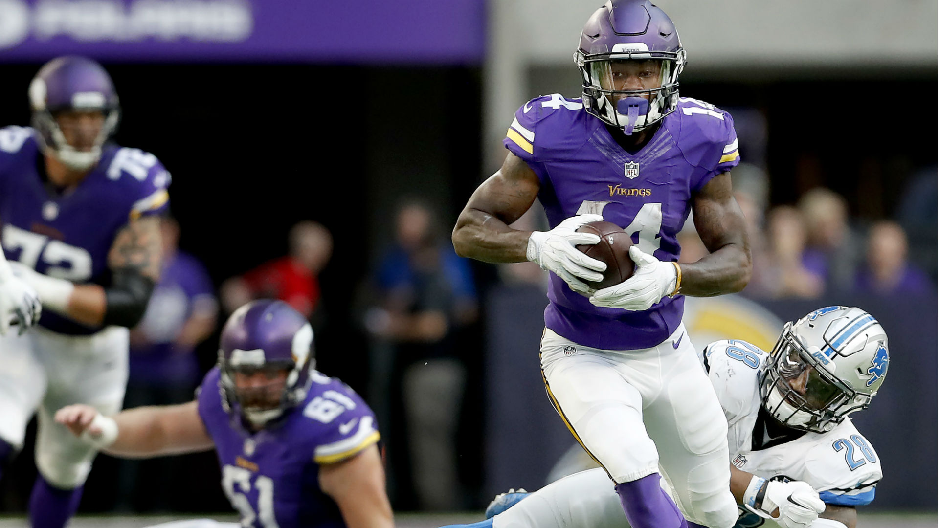 The 17 most important Vikings in 2017 No 8 WR Stefon Diggs