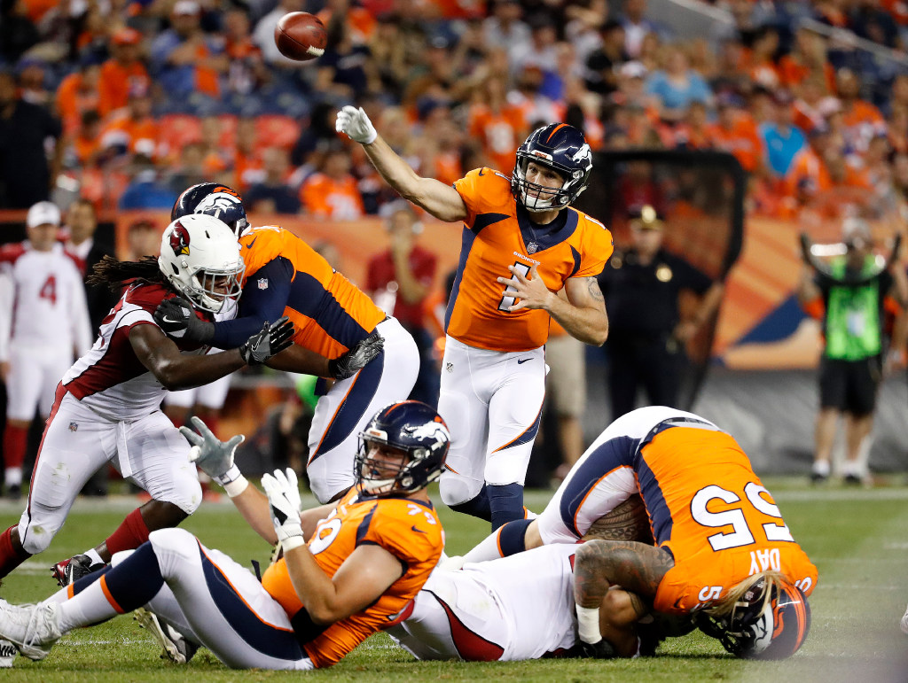 Broncos lose Sloter, Raymond, work on practice squad