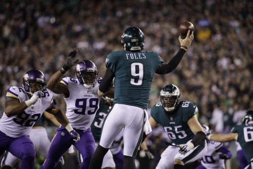 Philadelphia Eagles quarterback Nick Foles in action during the NFL  football NFC championship game against the Minnesota Vikings Sunday f8c208a89