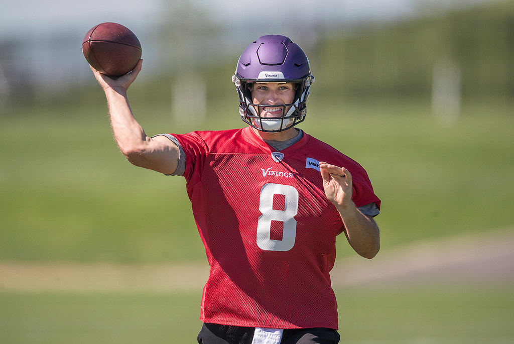 on sale a171c 9aa59 A 'boo-yah!' kind of day for Kirk Cousins at mini-camp ...