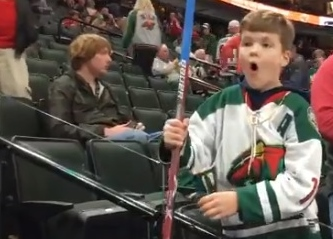 young wild fan getting a souvenir is the only good thing from last