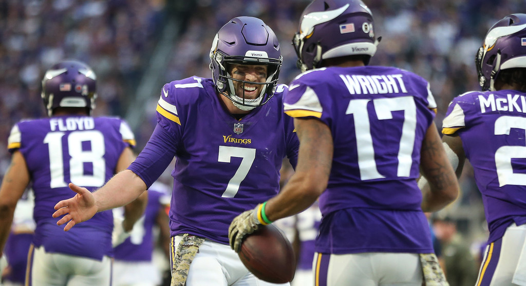 Case Keenum gets solid reviews from Vikings coach Mike Zimmer