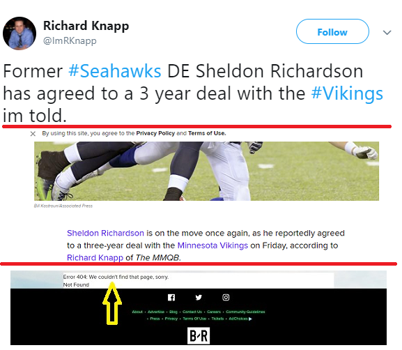 Bogus report on Vikings and Sheldon Richardson is a good lesson