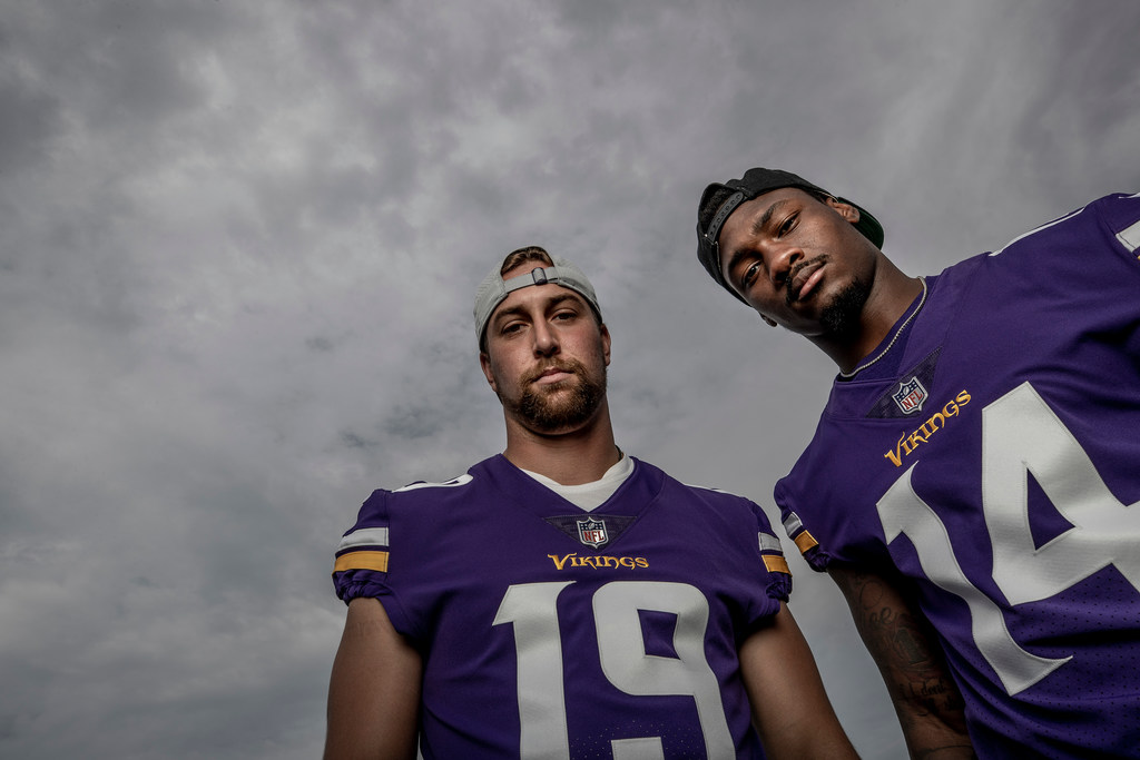 new product 31f20 259f0 Vikings film review: Adam Thielen and Stefon Diggs state ...