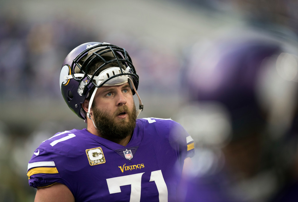 innovative design 1943f 4b8fa Source: Vikings pondering a change with left tackle Reiff ...
